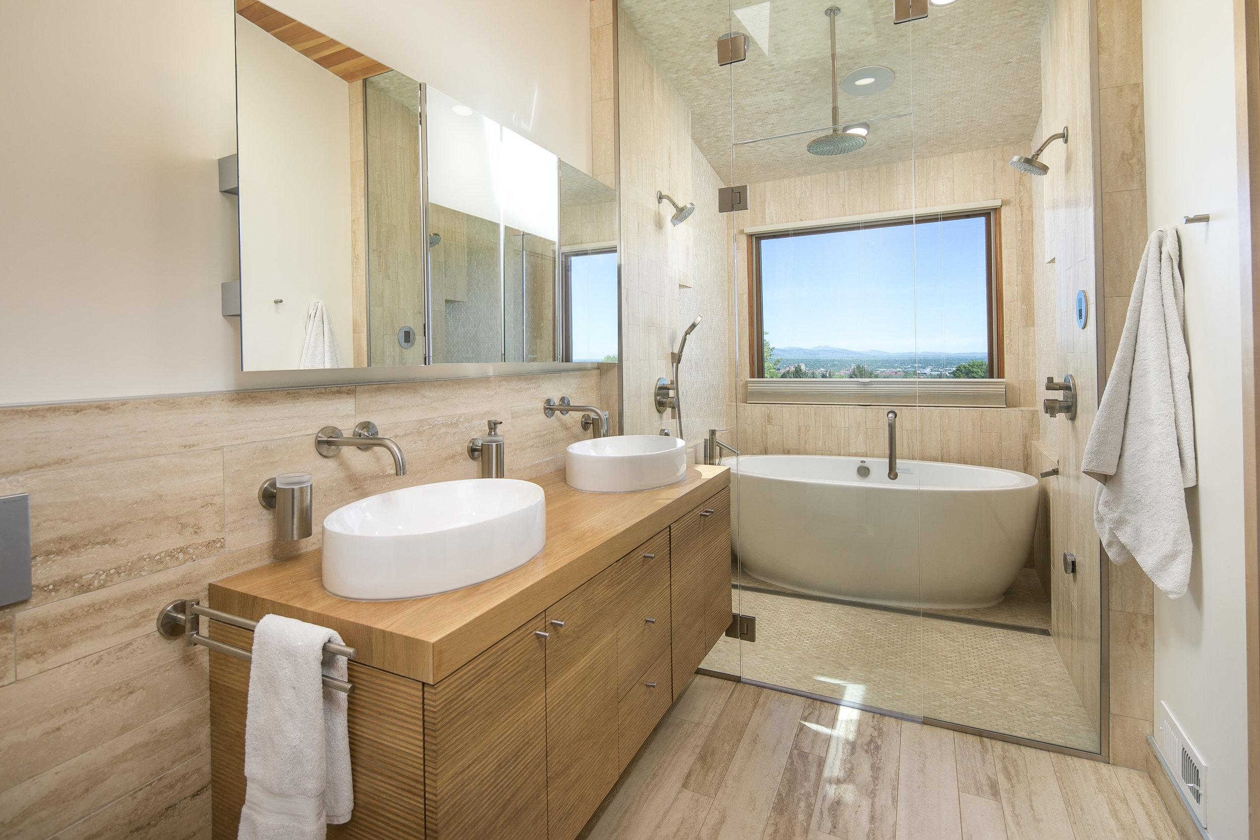 Upper Vassar drive renovation and addition view of Master Bathroom