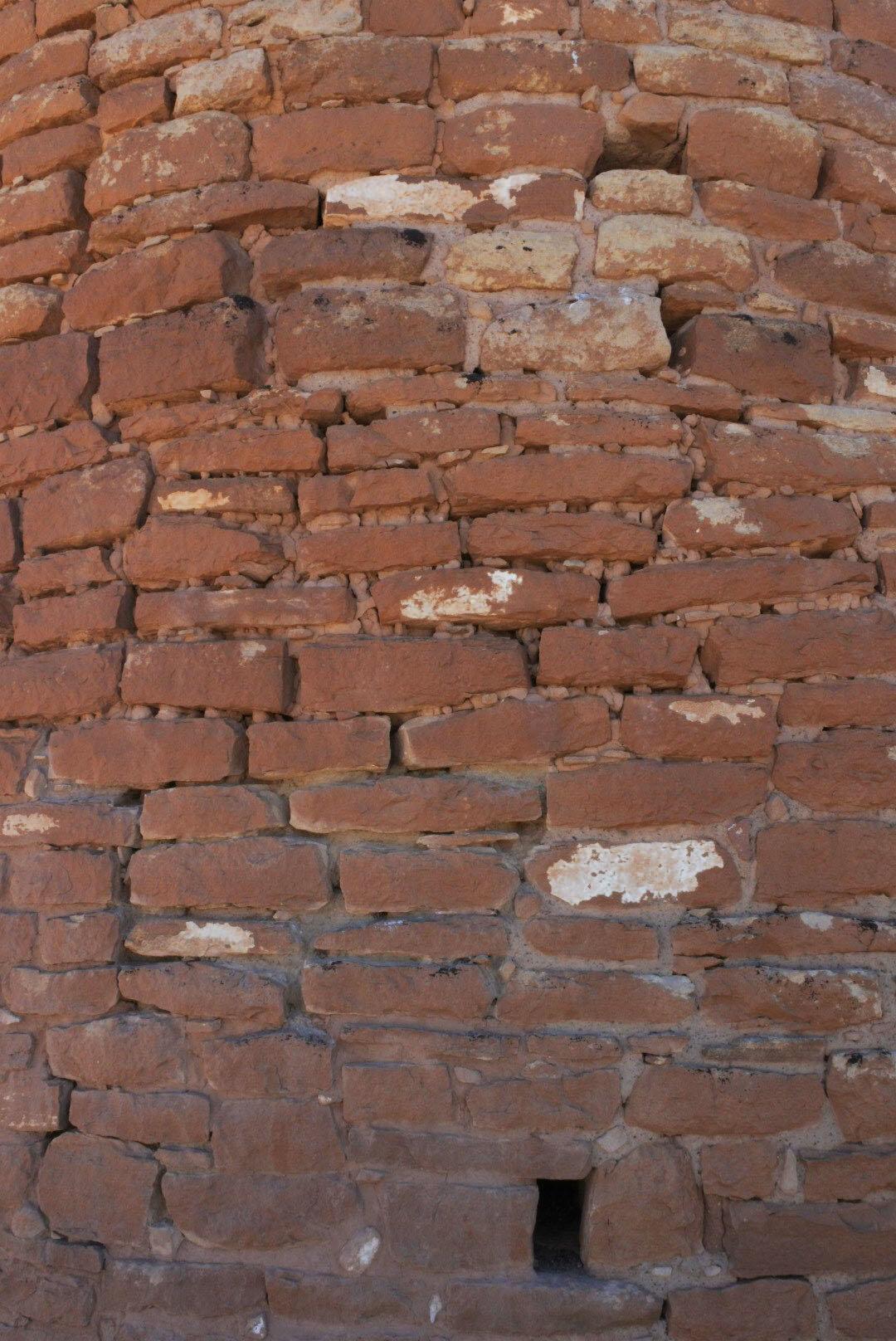 Houvenweep masonry with chinking stones