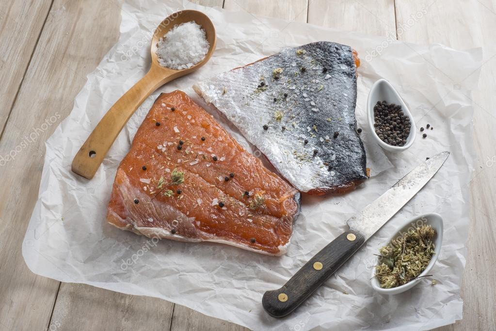 Cold-Smoking begins with salt-curing and is done at 80˚F/27˚C