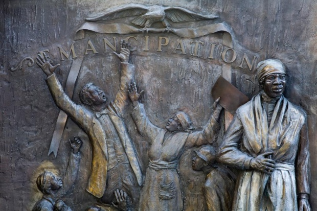 African American History Monument by Ed Dwight, State Capitol Grounds, Columbia, South Carolina. Photograph: Alamy