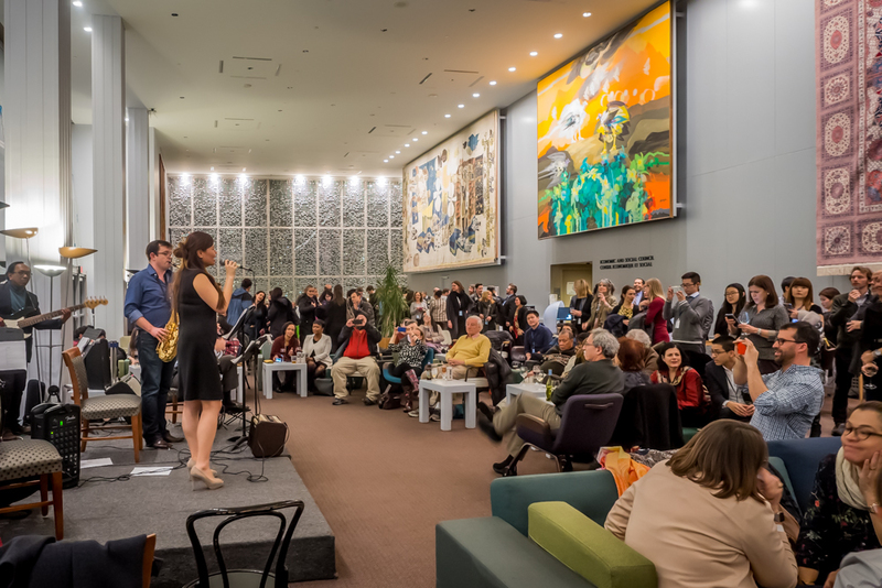 The monthly jazz night at the U.N, Delegates Lounge in New York. (Photo: Raphaelle Guillon)