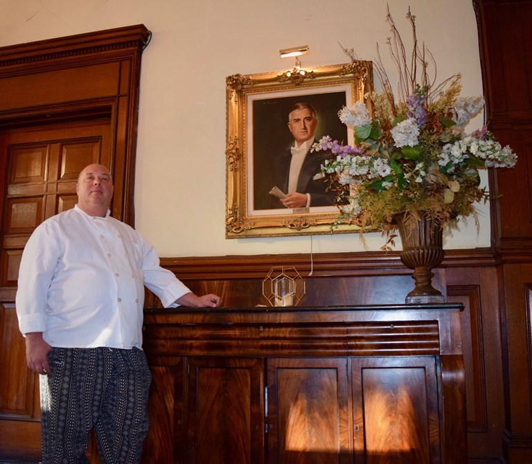 Larry Berson, head chef and general manager of the Montauk Club. SOURCE:  ADRIAN BRUNE/OZY