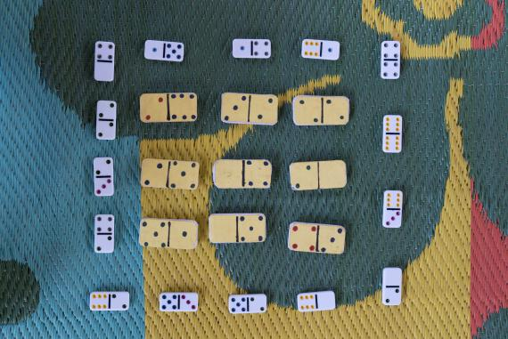 Homemade dominoes teach measuring, counting and pattern recognition. They also require children to learn the rules of a game and engage in strategic thinking.