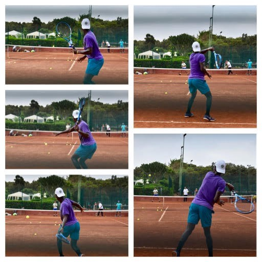 """Cote D' Ivoirian player, Eliakim """"Wilfried"""" Coulibaly (ITF #62) whipping through a forehand at the ITF/CAT High Performance Tennis Centre Morocco, July 2018."""