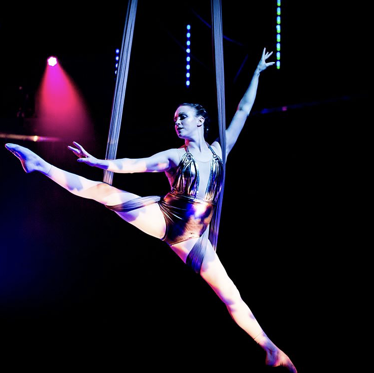 Christy rose    Circus Extraordinaire     VIBE : Shapes in Flight, Circus Wonderment   CLASSES TAUGHT : Stretch and Sculpt, Fly Gym- Aerial Flow   Instagram  @ christymaerose