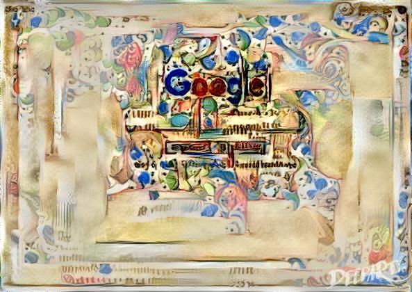 Google homepage as illuminated manuscript