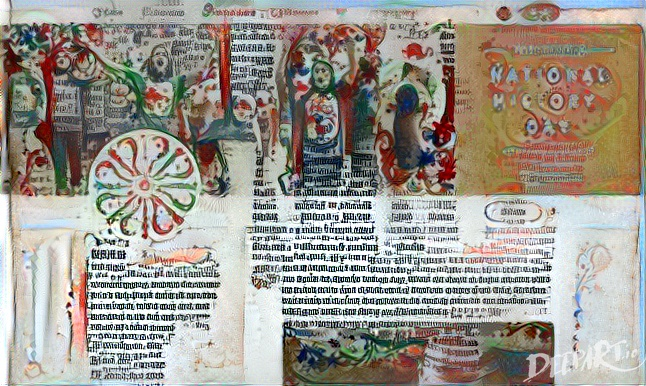 The twitter feed of the NEH as an illuminated manuscript.
