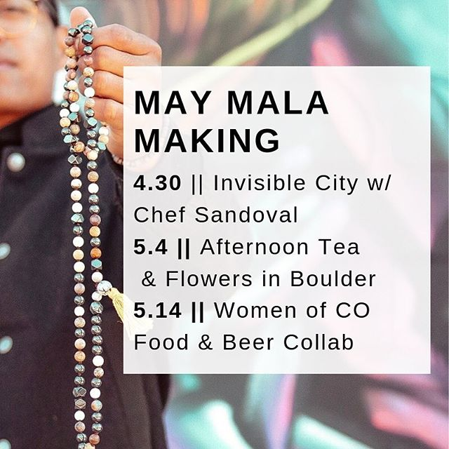 Mala Making Workshops are a fun way to create && collaborate with bad ass people in your community. Neighbors, local business owners && people stopping in town for the weekend! Come create with me at an upcoming workshop 🌈 . 💙4/30 - Artistic Activation HH @findinvisiblecity with yummy treats by @xatruchoconcepts. Drop in Mala Making from 4p-8p . ❤️5/4 -Afternoon Tea & Flowers at a beautiful house in Boulder - Kids welcome! . 💛5/14 - Food & Beer Collab with @womenofcolorado @badbettieproject @xatruchoconcepts @findinvisiblecity . . Registration on Darc-Moon.com 📿 . . . . . . . . . #DarcMoon #jewelry #mala #malas #malabeads #necklaces #necklace #gemstones #accessories #intention #jewelrygram #jewelrymakingclass #instajewelry #denverevents #meditate  #denvercolorado #handmade #quoteoftheday #workshop #yoga #jewelrymaking #jewelrymaking #workshops #mindfulness #malanecklace #colorado #gemstones #denver #artisan #prayerbeads