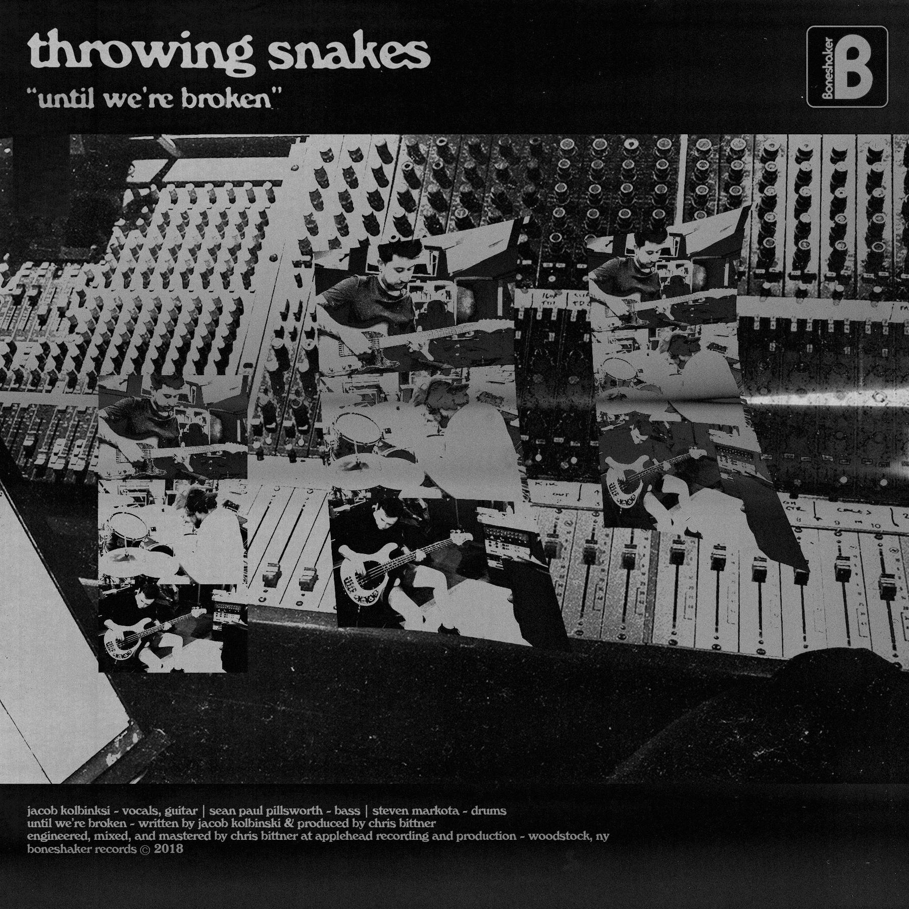 throwing snakes until we're broken single cover