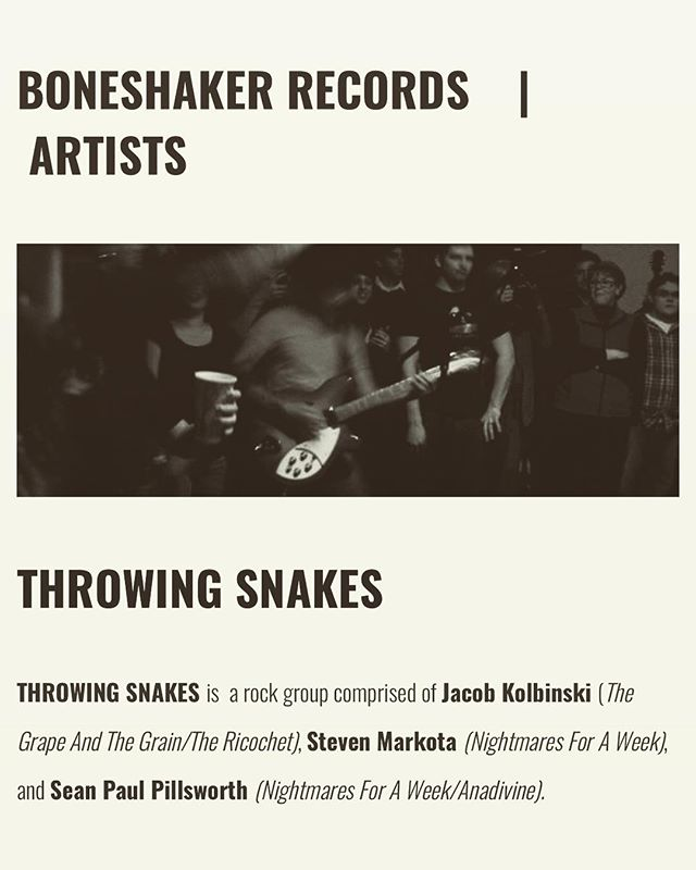 New music to come soon! @boneshakerrecords