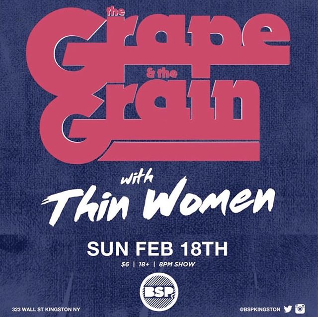 Tonight at @bspkingston!! #thegrapeandthegrain #bspkingston #kingstonny #livemusic