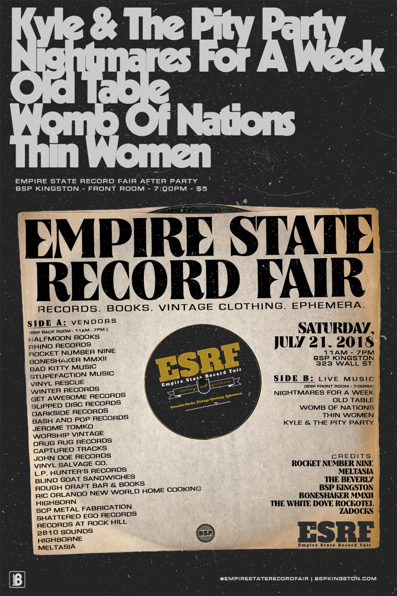 NIGHTMARES FOR A WEEK at EMPIRE STATE RECORD FAIR