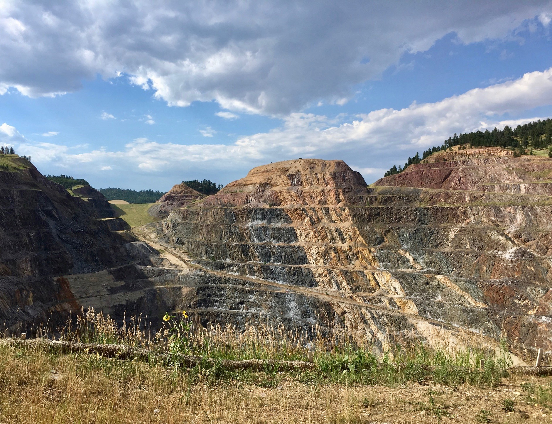 Homestake mine in Lead, South Dakota. Now transformed into a laboratory in search of Dark Matter.