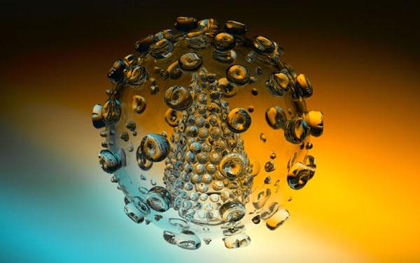 Luke Jerram's  microbiology sculptures: HIV