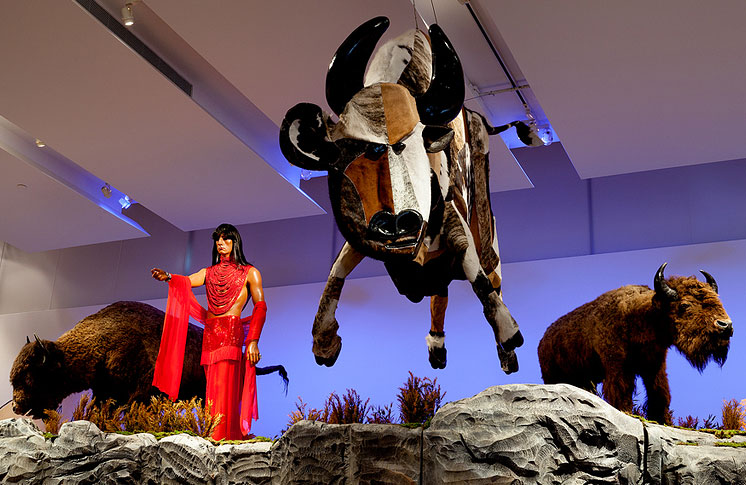 Kent Monkman,  The Rise and Fall of Civilization  (2015)  mixed media installation  Gardiner Museum, Toronto CA  Photo by Jimmy Limit