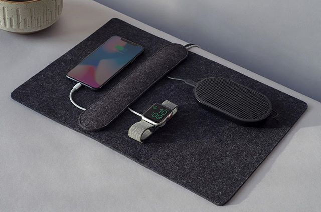The Together charging station keeps your cables organized and give you a place to arrange all your devices. #happytogether #iphone #applewatch #bangandolufsen