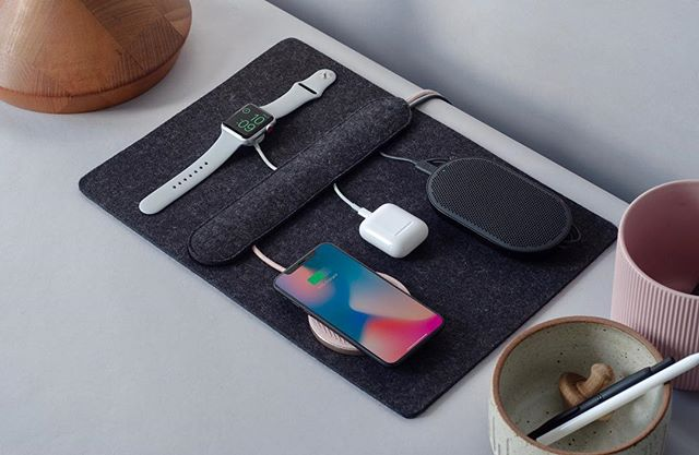 Organize your cables and devices with the Together charging station— a beautiful and clever way of living with your technology. #iphone #applewatch #mophie #bangandolufsen #mightybright #airpods #happytogether