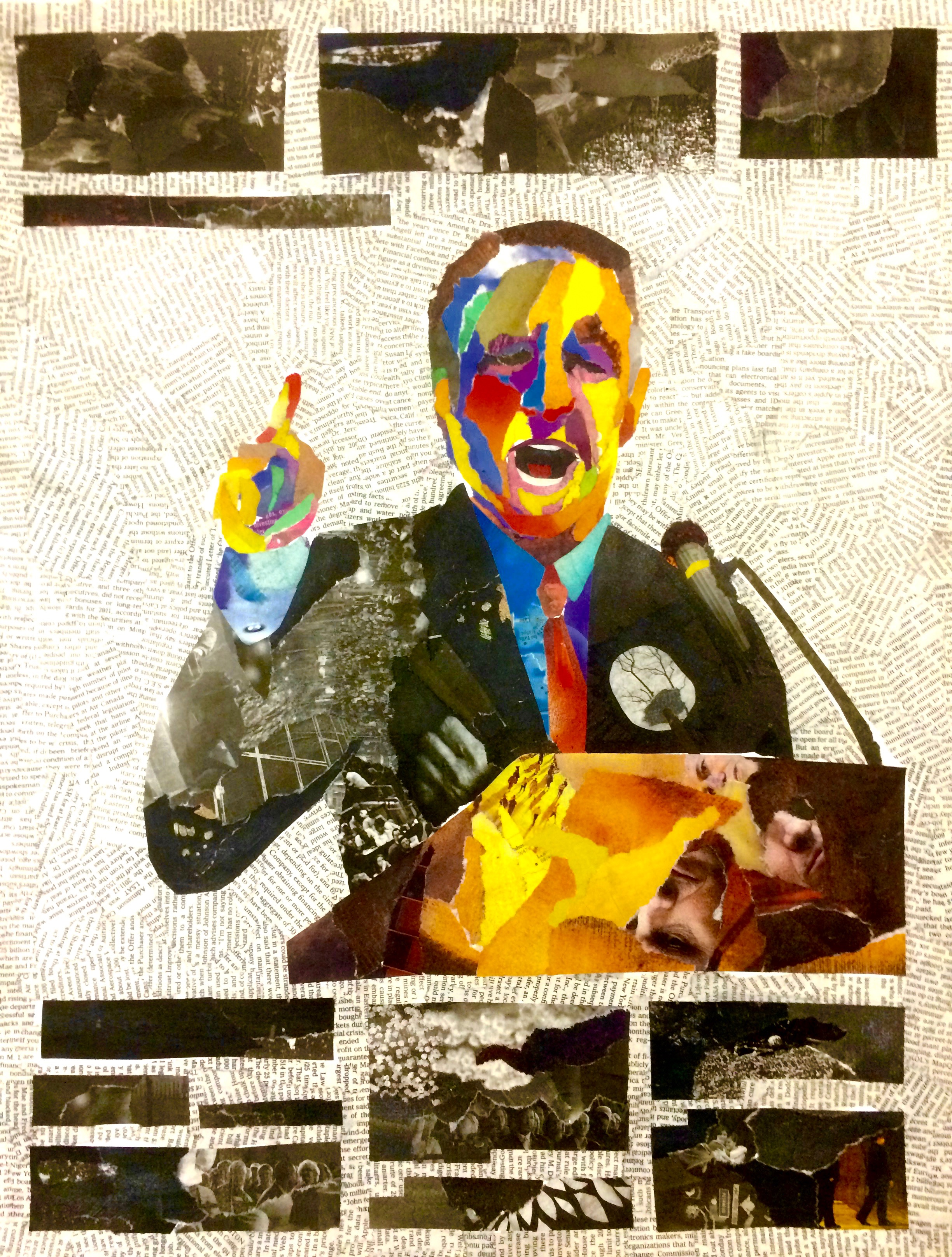 Politics 2012, newspaper collage