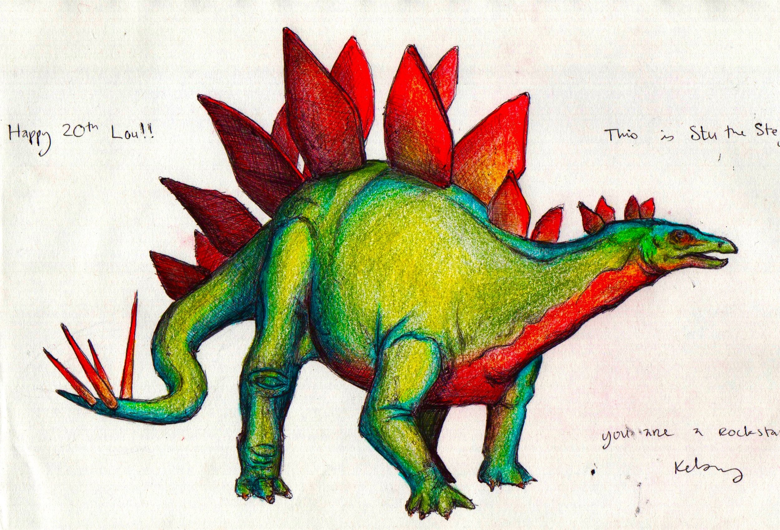 Stegosaurus 2012, bic pen & colored pencil