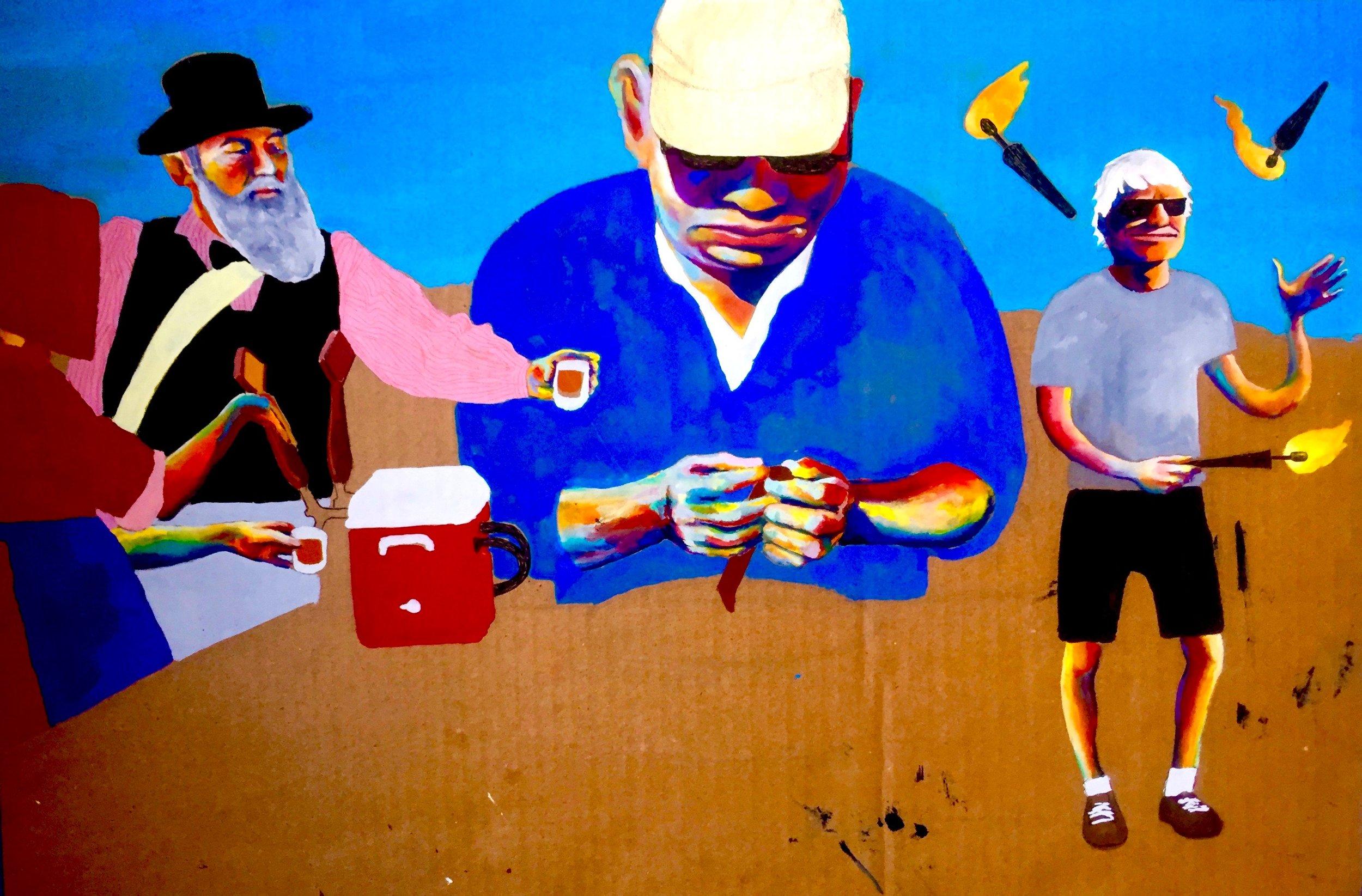 Festival of Ales 1/3 2015-x, gouache, micron pen & colored pencil