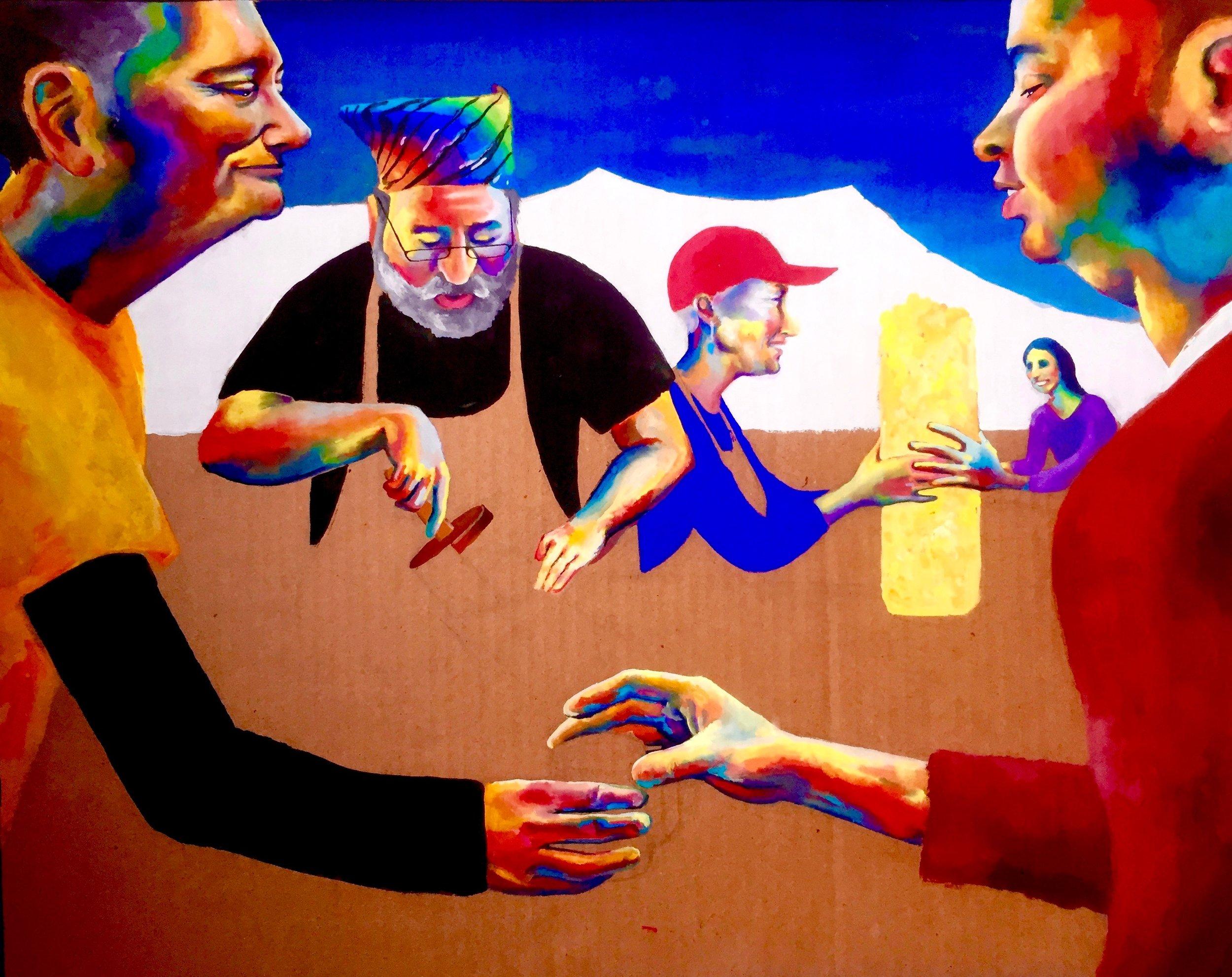 Festival of Ales 2/3   2015-x, gouache, micron pen & colored pencil