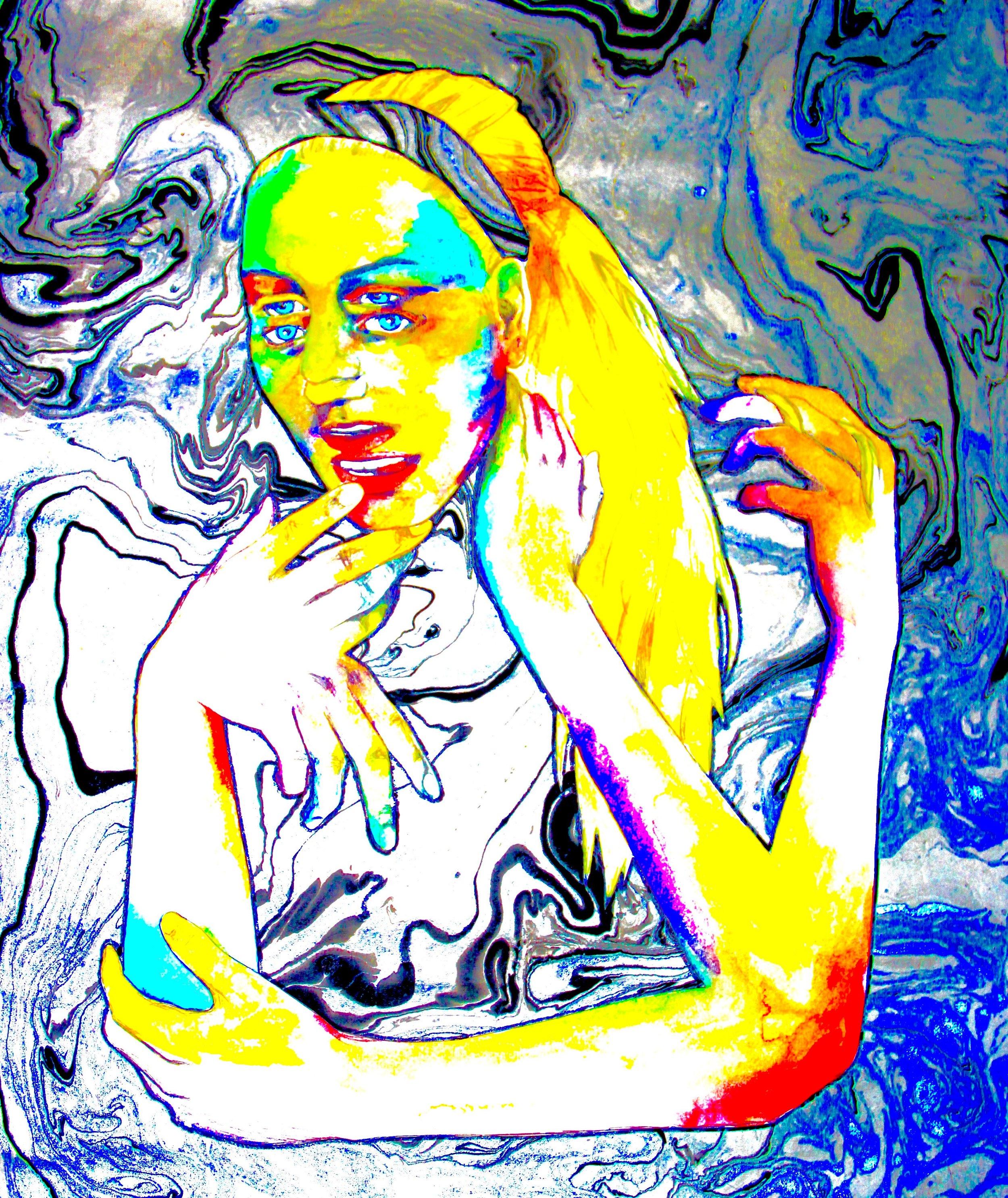 Transient 2014, bic pen, watercolor, craft paper & digital edit