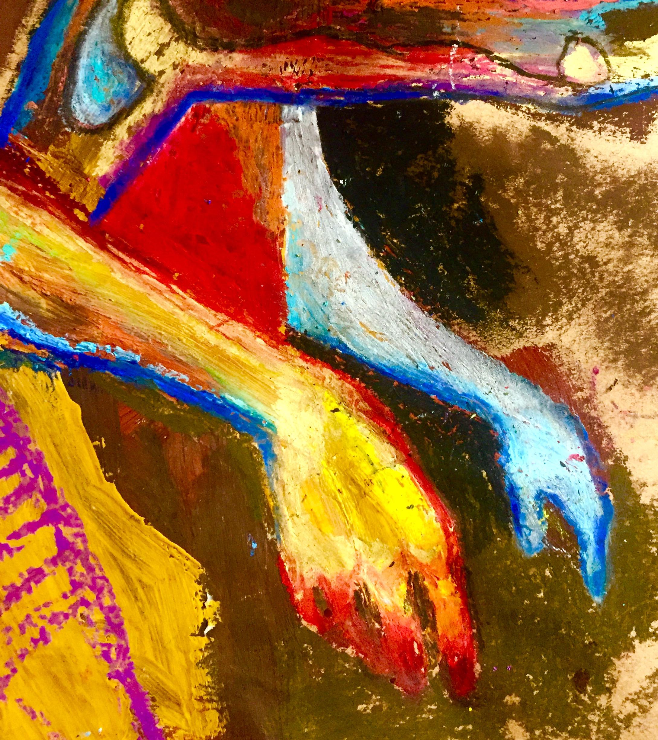 Untitled 2016, oil pastels