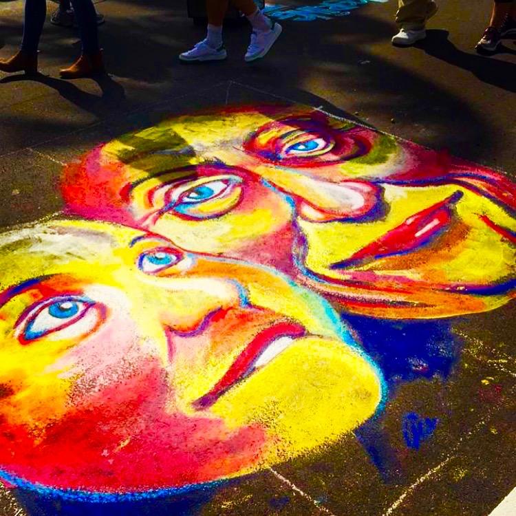 Chalk Art - Naples, Florida January 28th, 2017, chalk