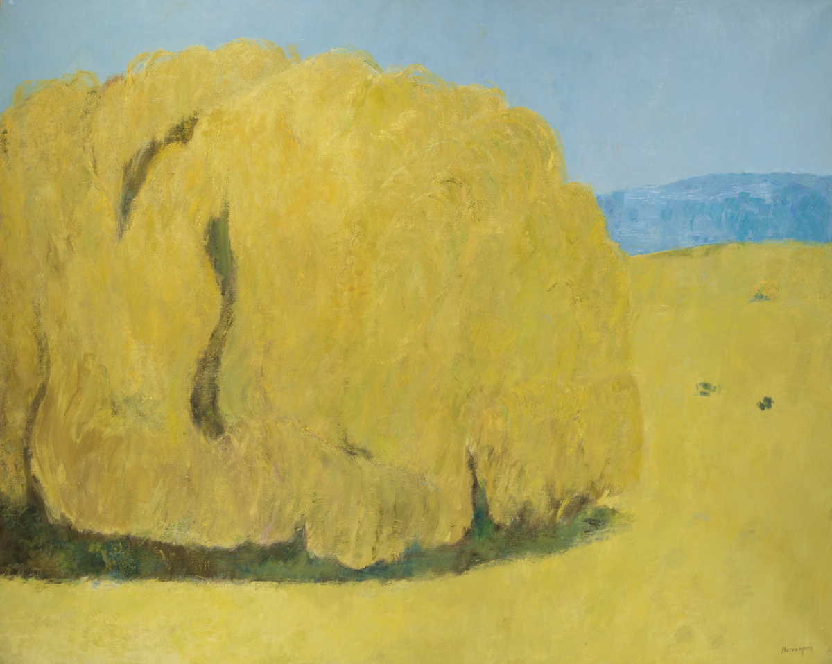 Le Saule Pleureur de Loumarin, oil on canvas. 51 x 63