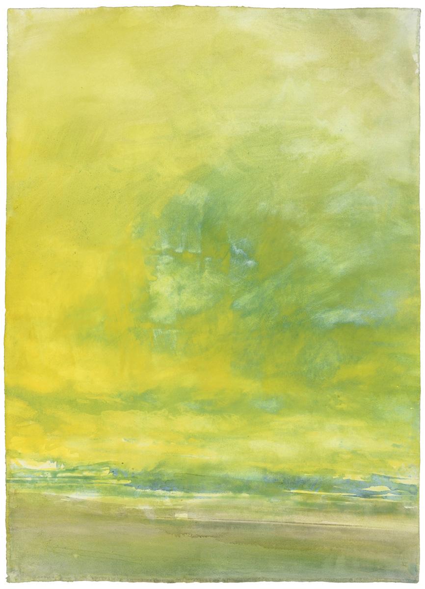 Green Sky, watercolor, 79 x 56 cm, 31 x 22 in, 1973
