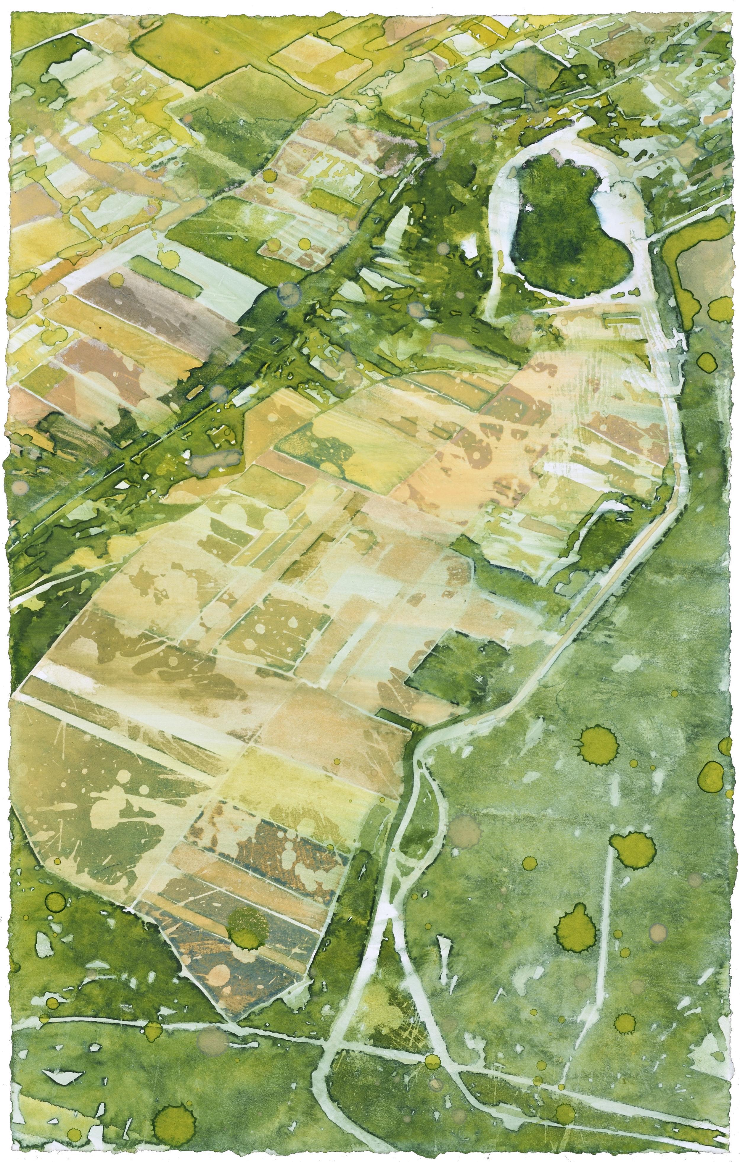 Flight AF 6207, I, watercolor, 48 x 30 cm, 19 x 12 in, 2015