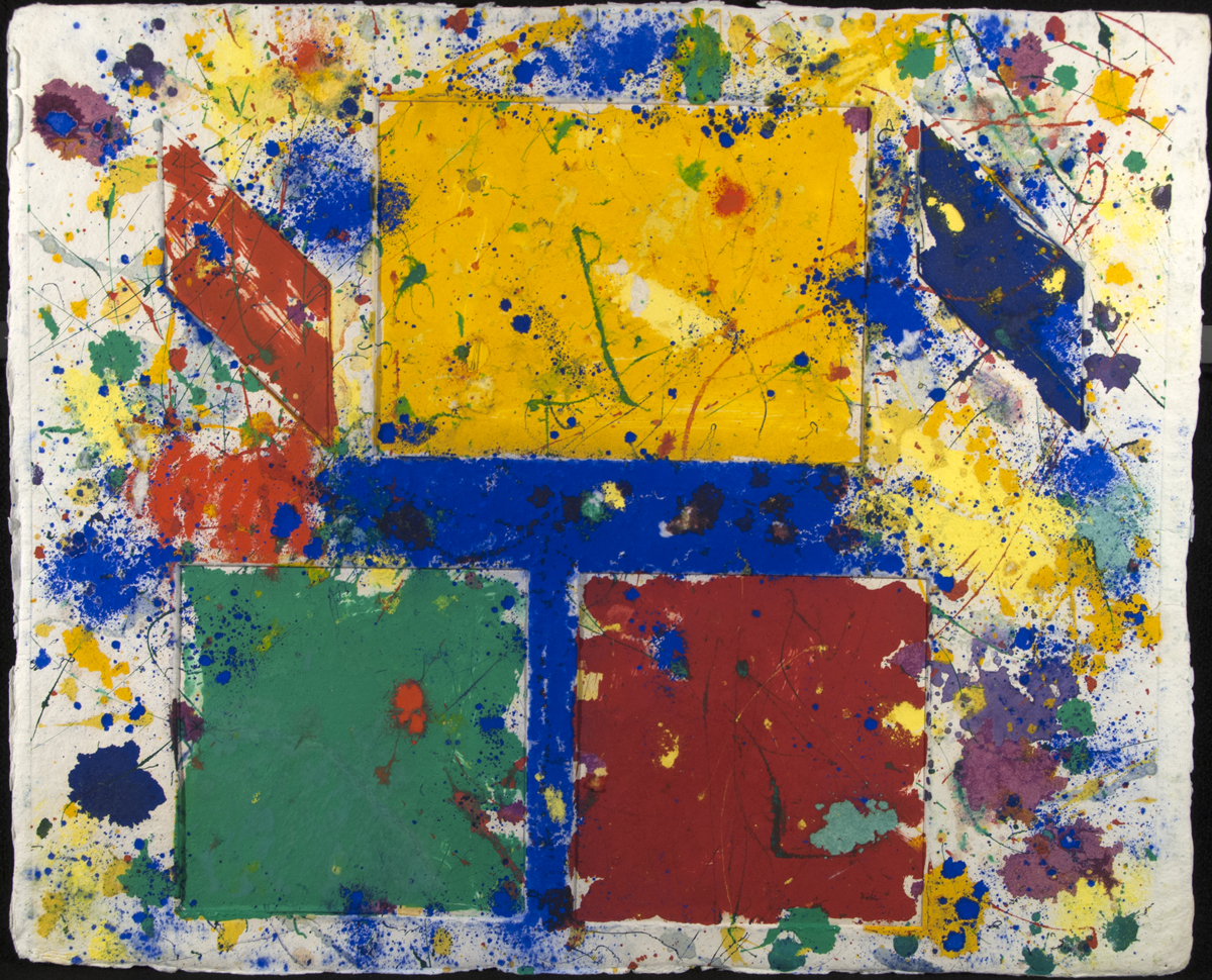 Untitled, Monotype with oil paint, powdered pigment and ink on handmade paper, 24.75 x 30.5 in, 1981