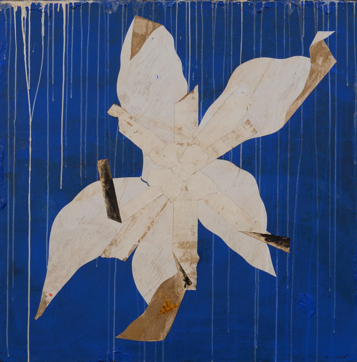 Fleur Brissonienne, mixed media on canvas, 39 x 39 in (100 x 100 cm) 2015