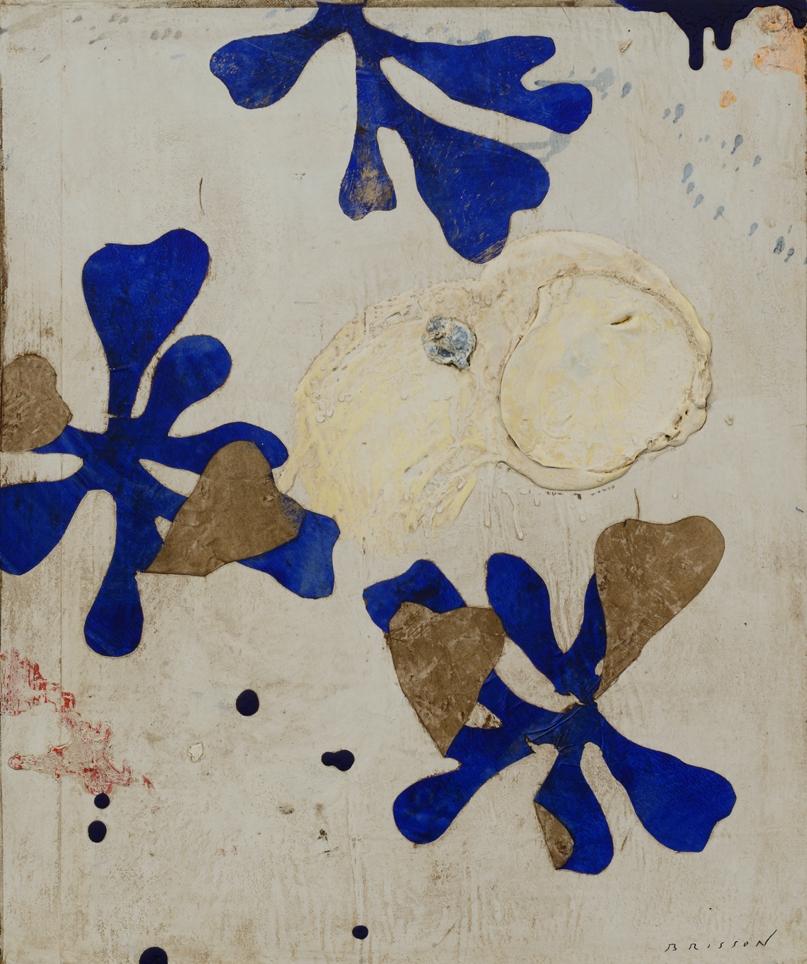 Blanc et bleu, mixed media on canvas, 25 x 21 in (65 x 55 cm) 2014