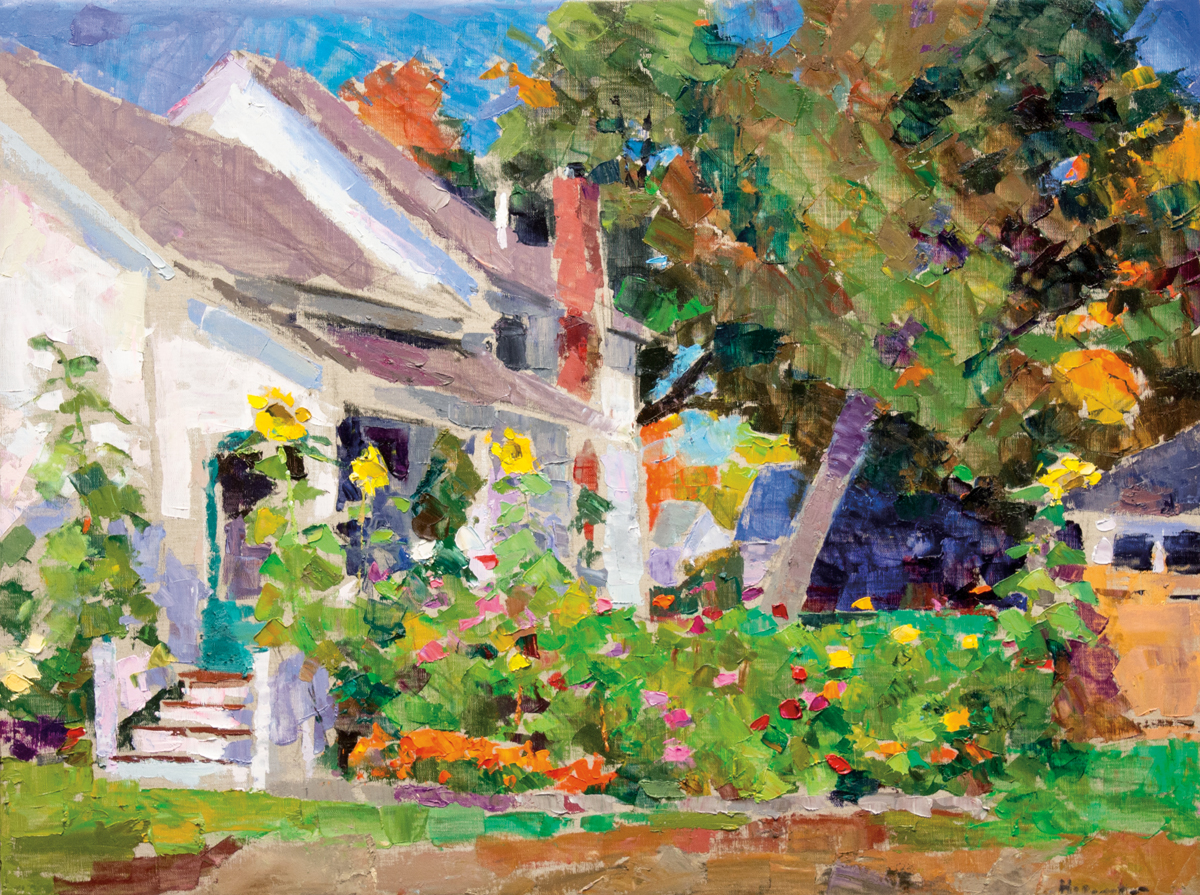 Ferguson's Front Yard, Oil on Canvas, 30 x 40 in (67 x 90 cm), 2016