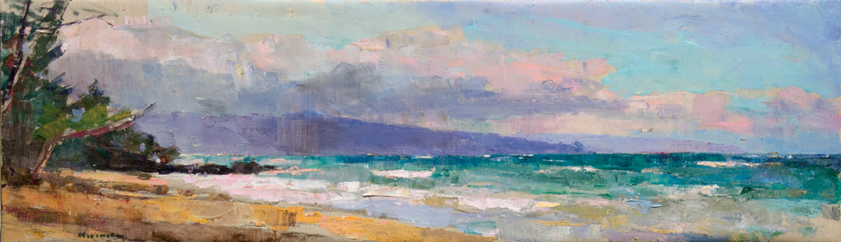 Paia, Oil on Canvas, 12 x 41 in (27 x 92 cm), 2016
