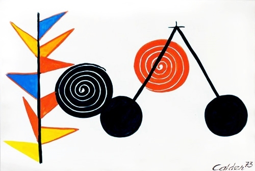 Alexander Calder,  Balancier , gouache and ink on paper, 1969