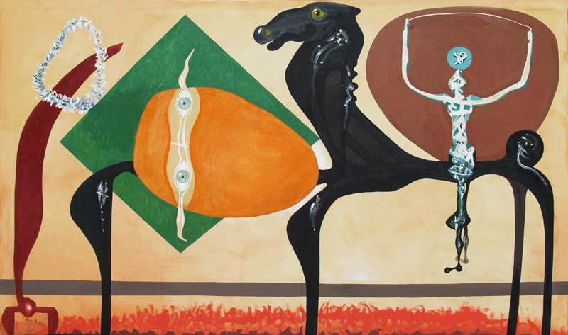 EDUARDO ARRANZ-BRAVO, King horse, oil on canvas, 55 x 45 in, 2015