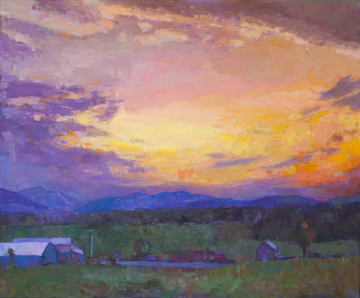 LARRY HOROWITZ, Jay Sunset, oil on canvas, 64 x 77 in, 2014