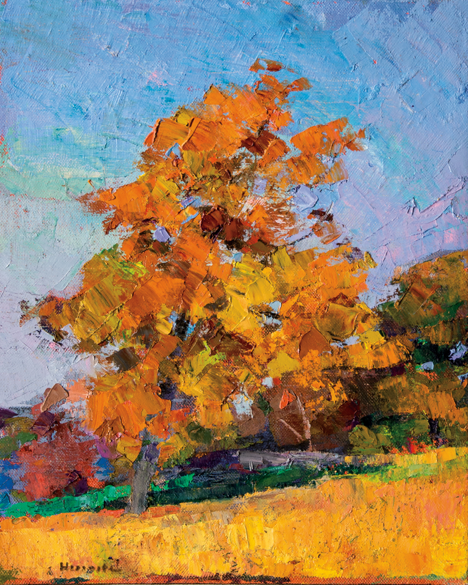 LARRY HOROWITZ, Lone Fall Tree, oil on canvas, 22 x 18 in, 2016