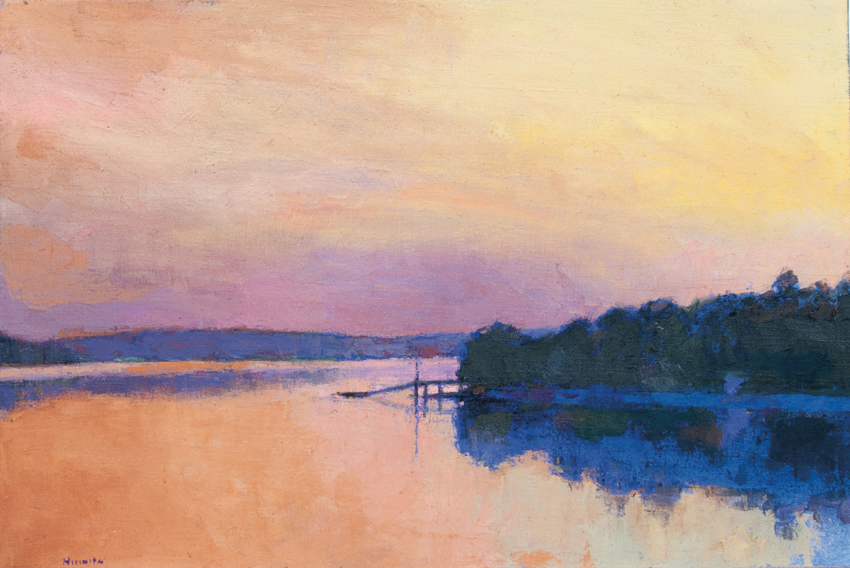 LARRY HOROWITZ, Golden Sunset (ME), oil on canvas, 31 x 46 in, 2016