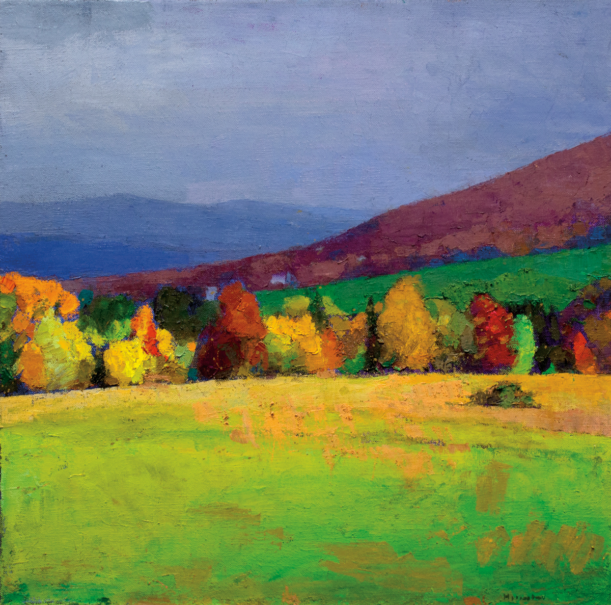 LARRY HOROWITZ, Fall Drama, oil on canvas, 34 x 34 in, 2015