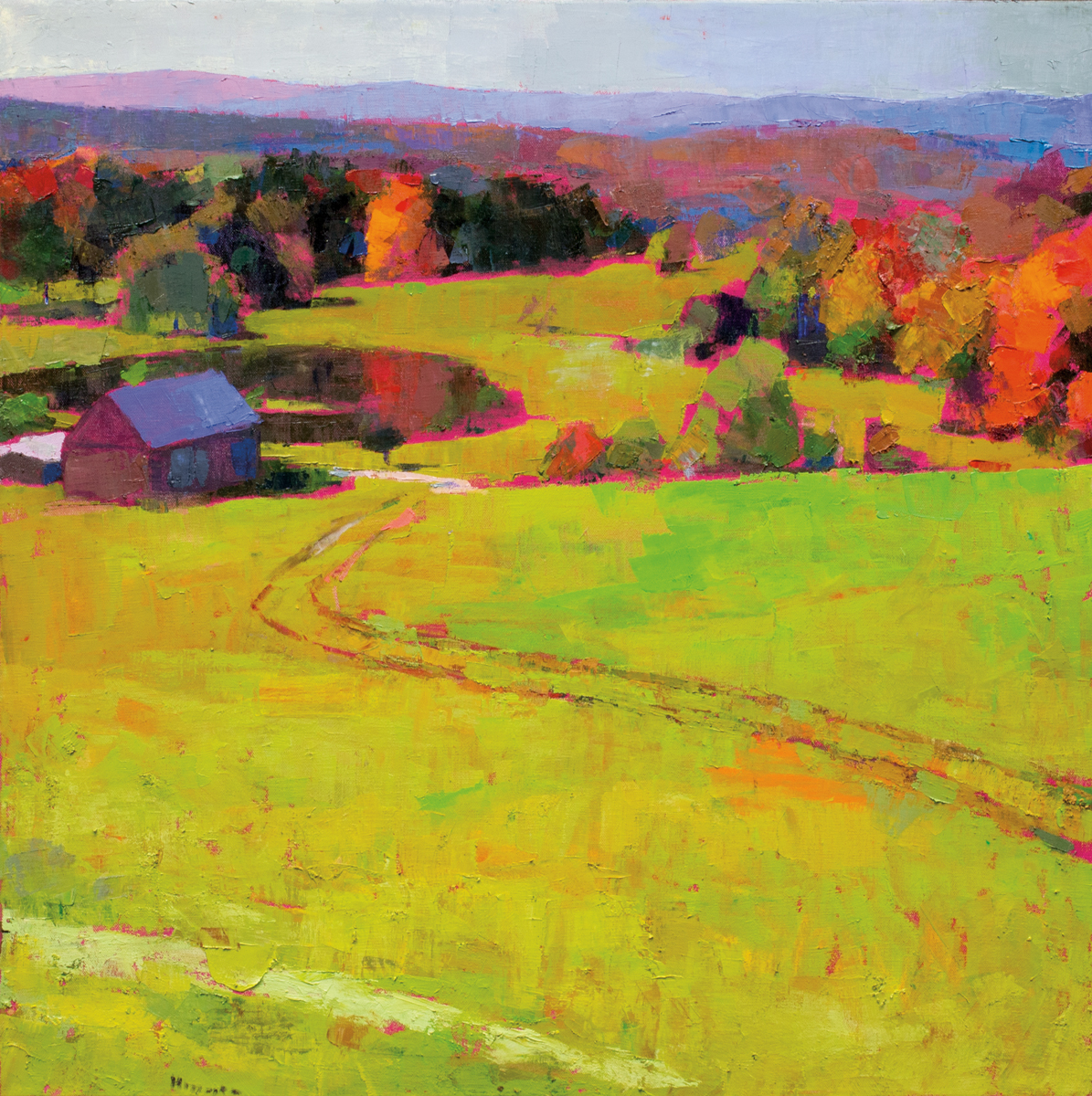 LARRY HOROWITZ, Chester Fall, oil on canvas, 39 x 39 in, 2016
