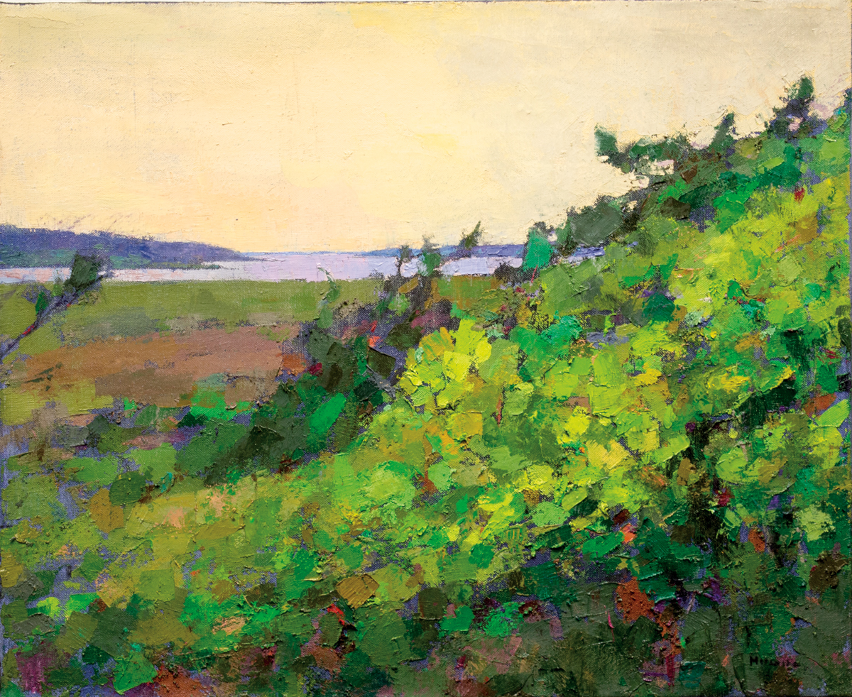 LARRY HOROWITZ, Spring Marsh, oil on canvas, 32 x 38 in, 2015