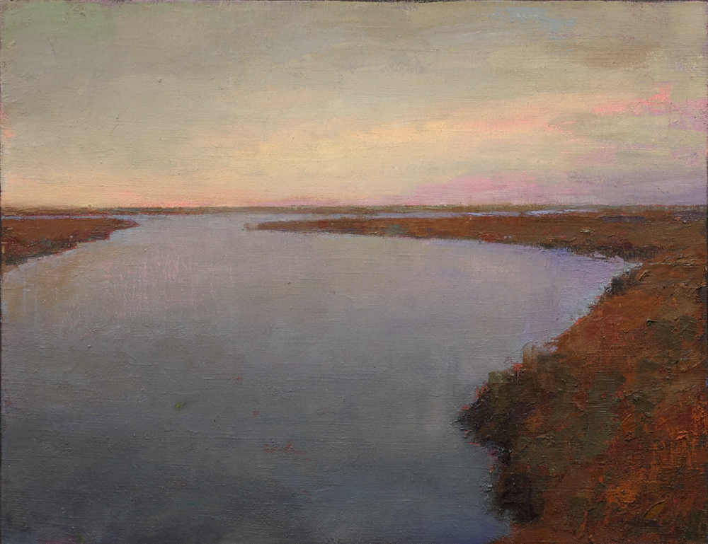 Quiet inlet, oil on canvas, 32 x 40 in, 2017