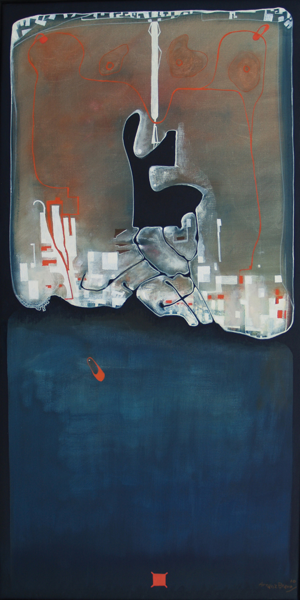 La cosa propia, oil on canvas, 51 x	25 in, 2010