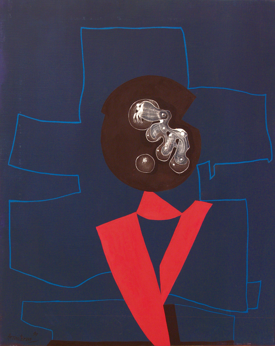 Goethe VI, oil on canvas, 31.5 x 25 in, 1999