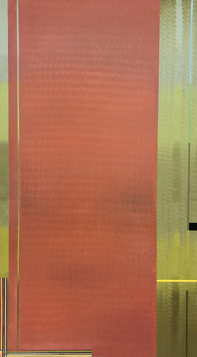 Blacksquare, oil on canvas, 70.6 x 39 in., 2017