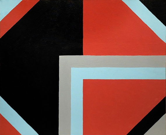 Corner Play, acrylic on canvas, 20 x 24 inches, 1987