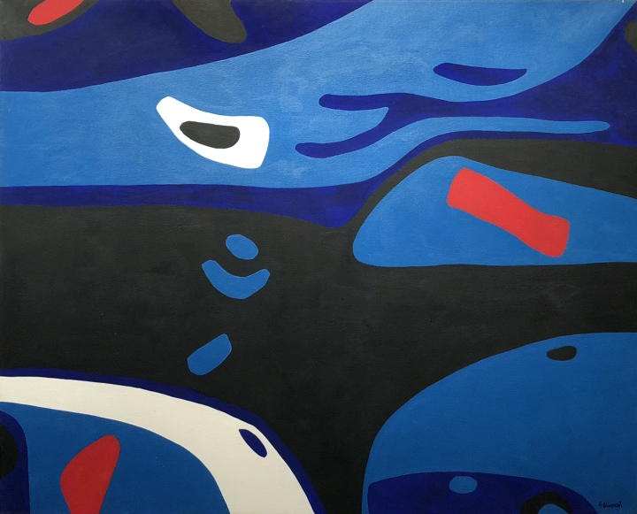 Night Reach, acrylic on canvas, 40 x 50 inches, 1965
